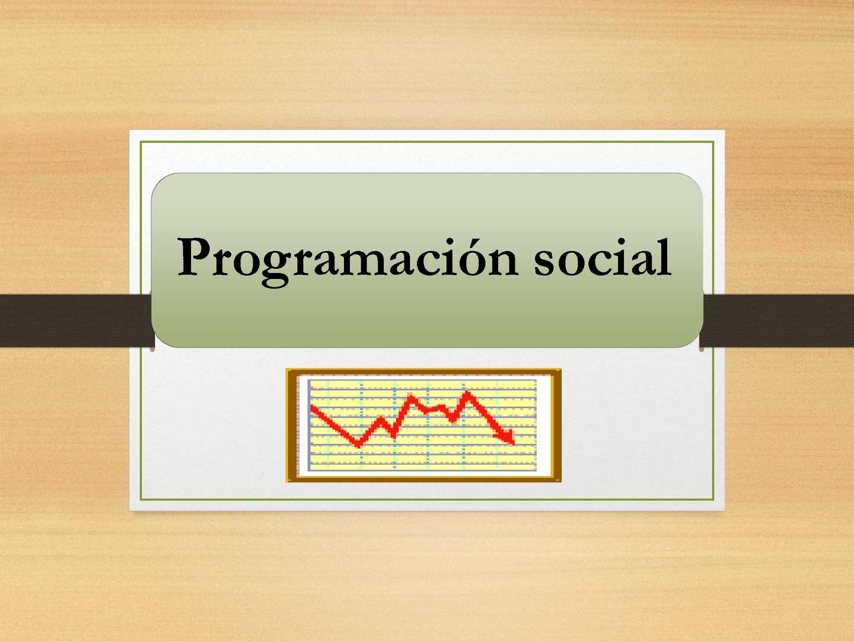PROGRAMACIÓN SOCIAL