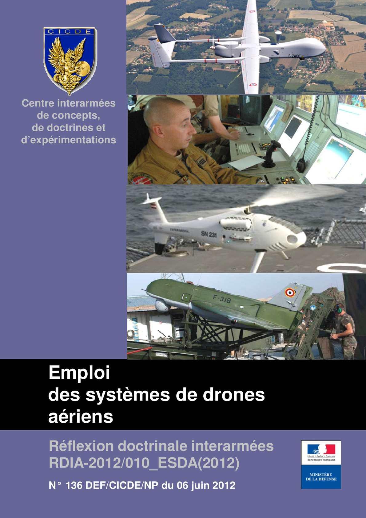 CICDE : Emploi des systèmes de drones aériens