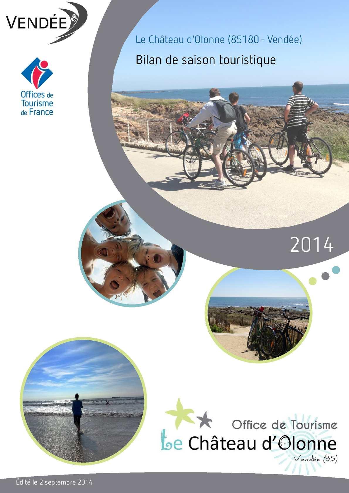 Calam o bilan de saison 2014 office de tourisme du ch teau d 39 olonne - Office tourisme chateau d olonne ...