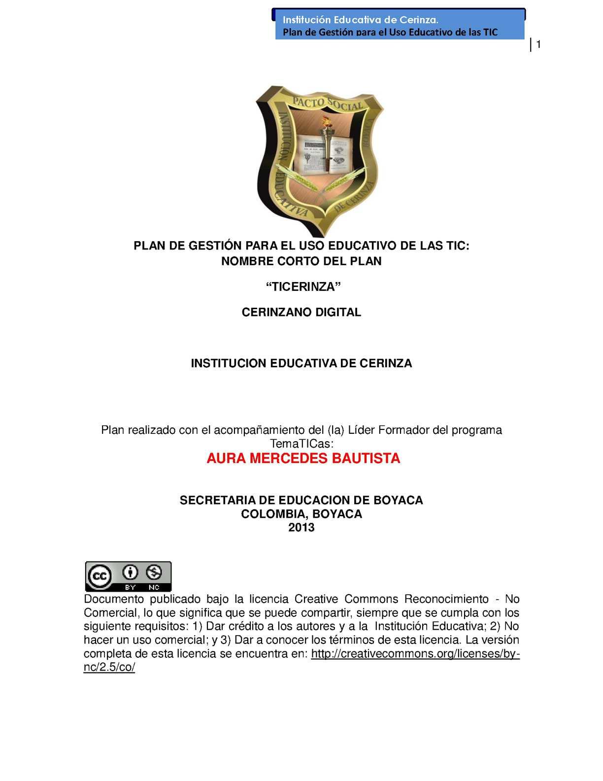 Calaméo - PLAN DE GESTION TIC INSTITUCION EDUCATIVA DE CERINZA
