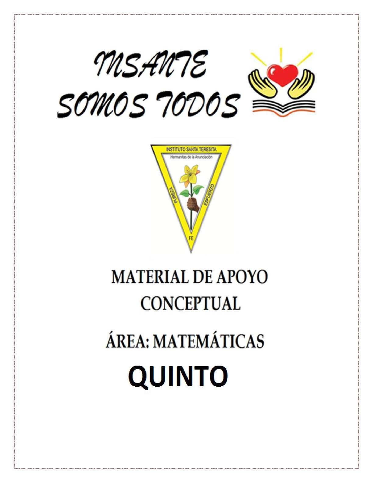 CARTILLA MATEMATICAS GRADO 5