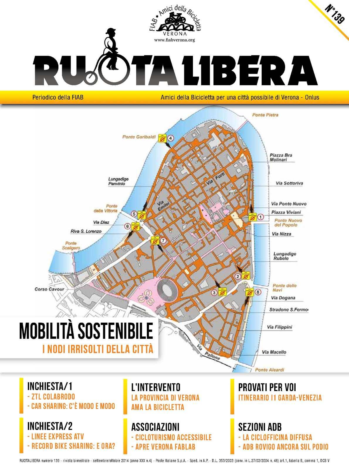 Ruotalibera 139 (settembre/ottobre 2014) - FIAB Verona - AdB