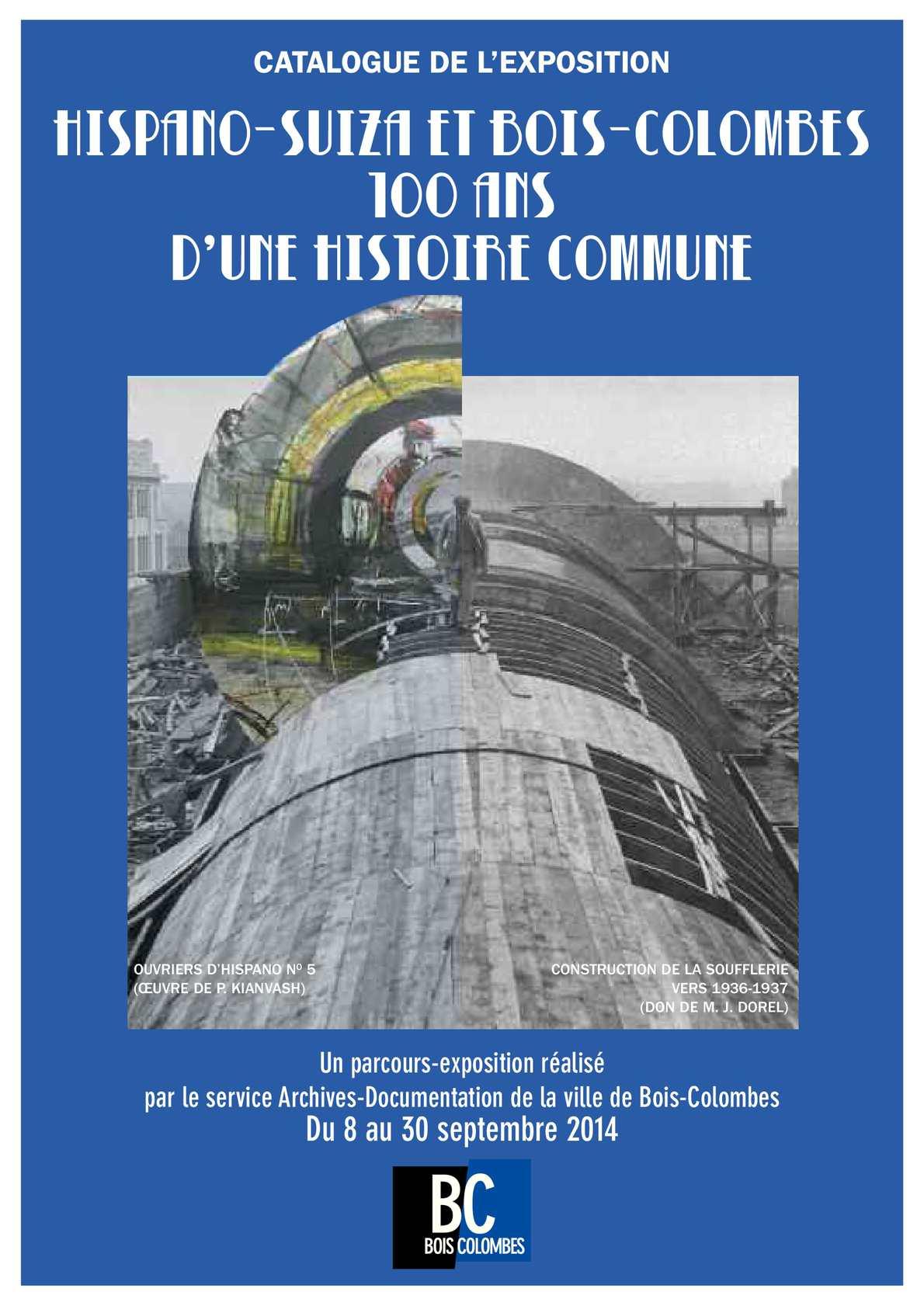 """Biblioth?que Bois Colombes : Calam?o – """"Hispano-Suiza et Bois-Colombes : 100 ans d'une histoire"""
