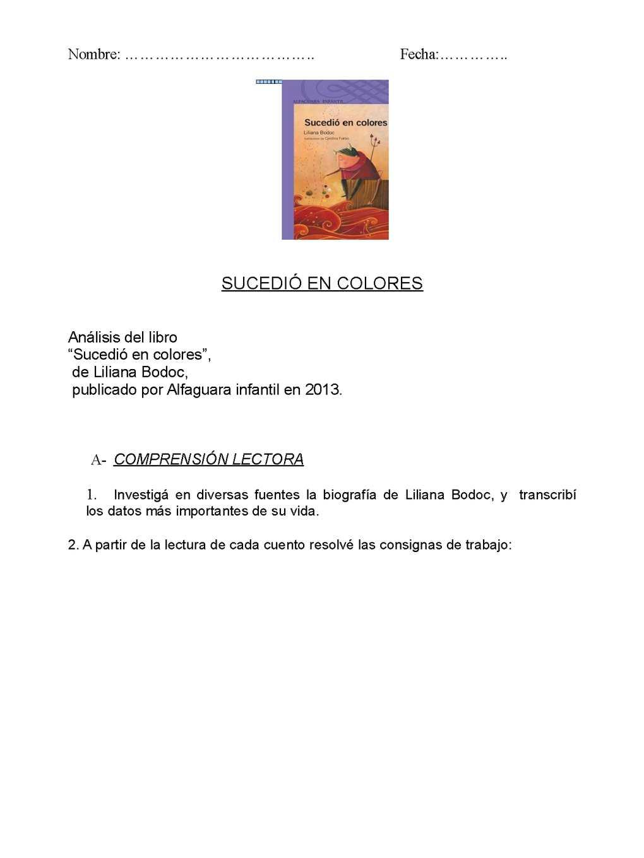 Calaméo - SUCEDIÓ EN COLORES