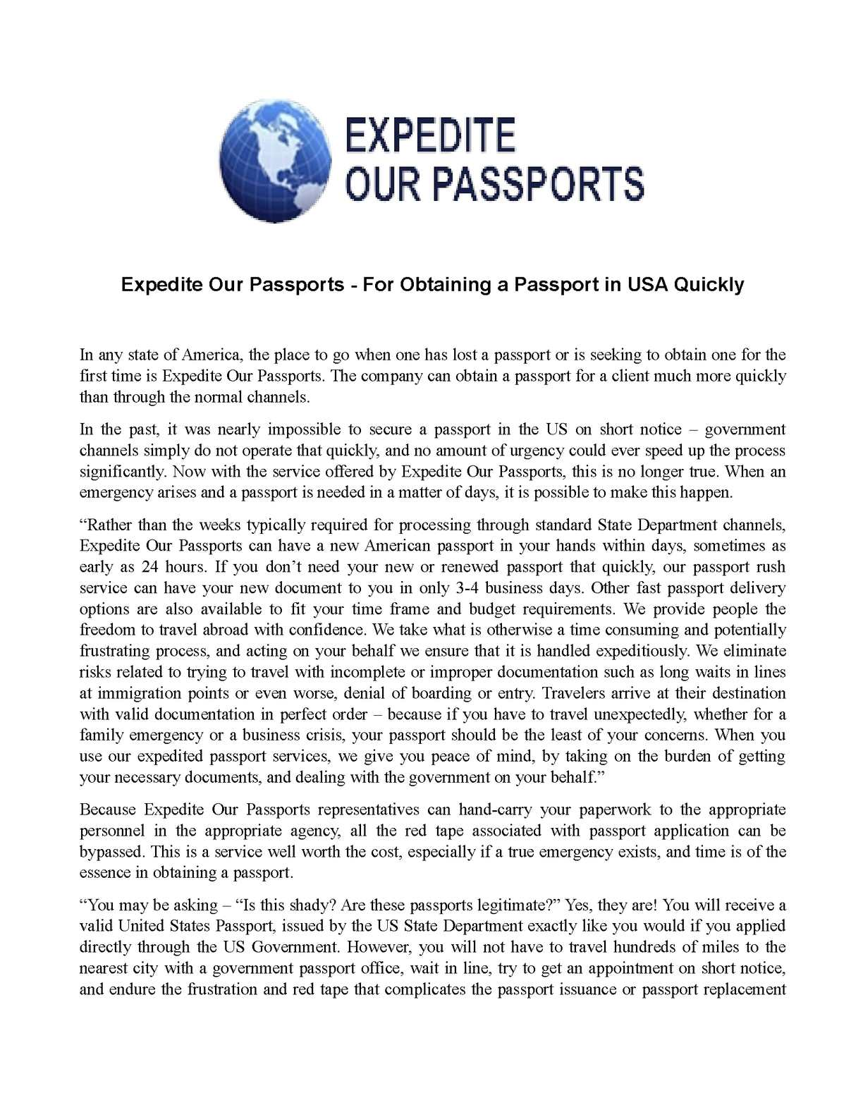 Calaméo - Expedite Our Passports - For Obtaining a Passport in USA ...