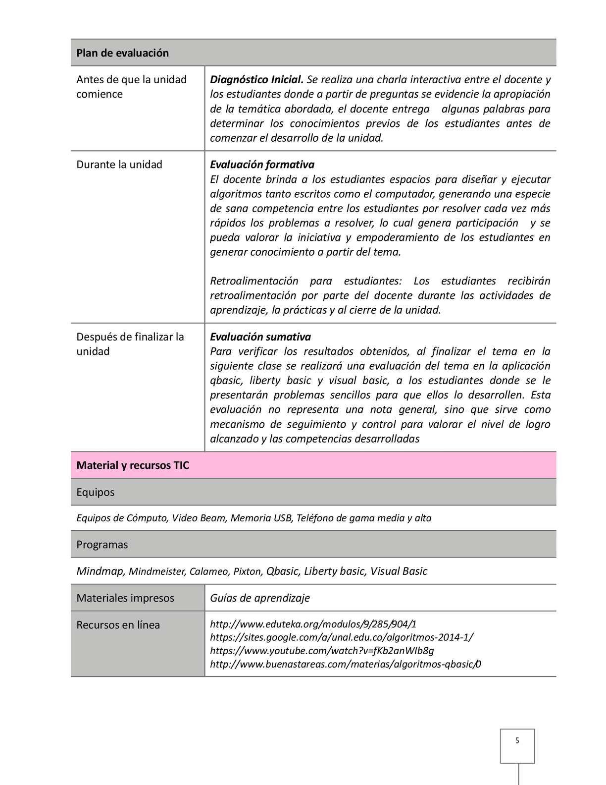 Plan de unidad didactica algoritmos calameo downloader page 5 ccuart Image collections