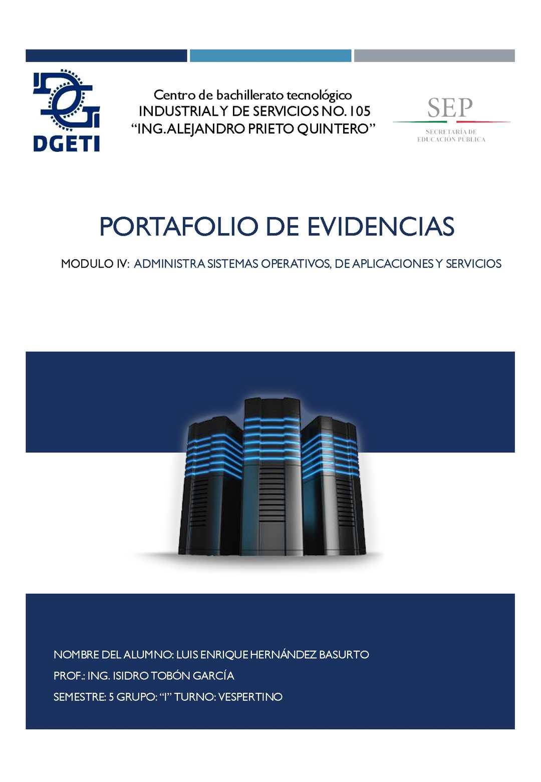 Portafolio de Evidencias Enrique Basurto