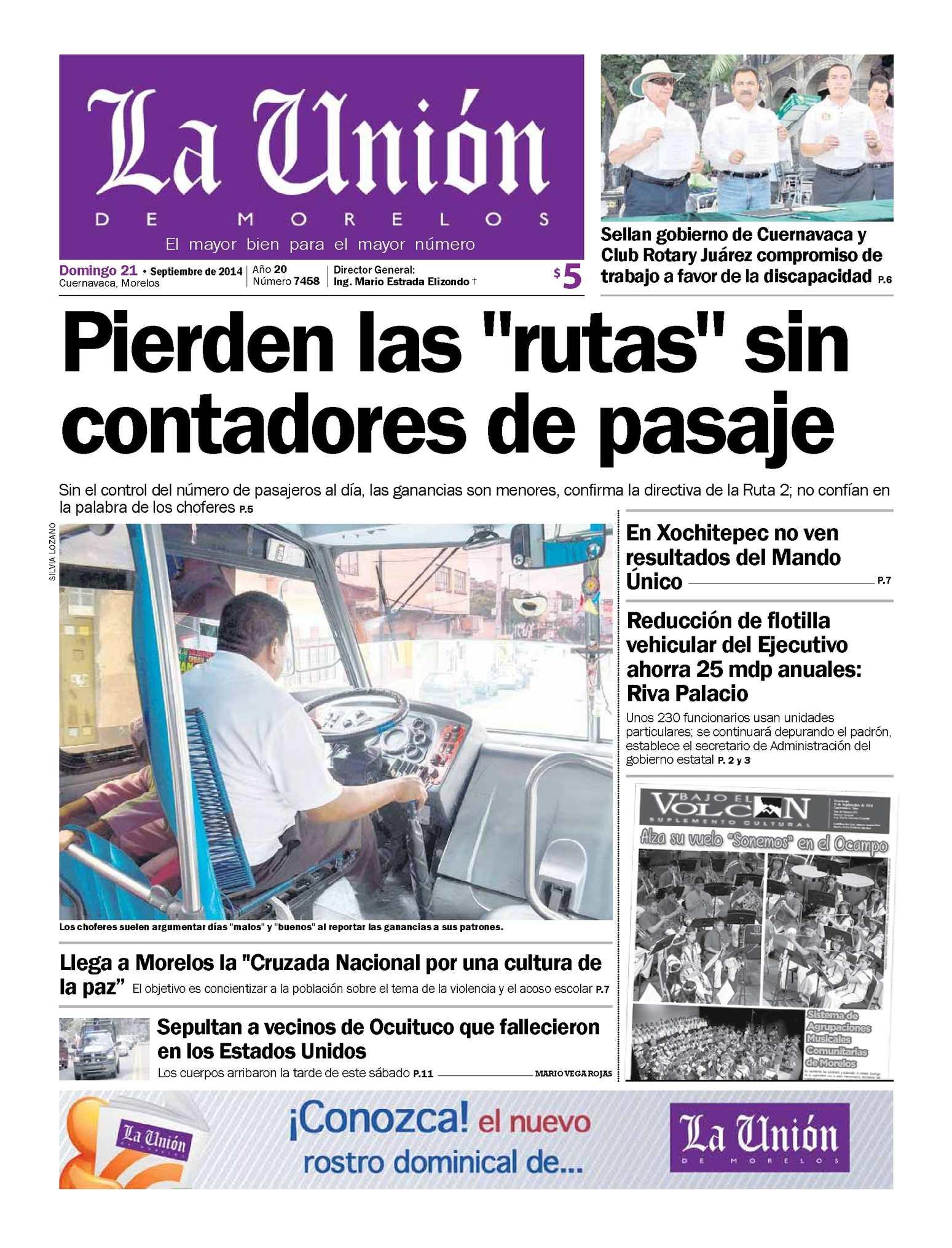 Calaméo - La Unión de Morelos 21 Septiembre 2014