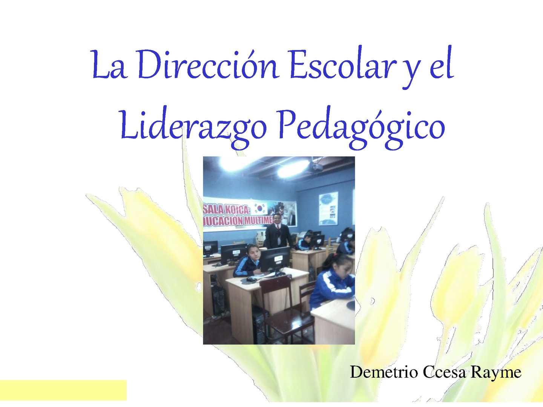 El Liderazgo Pedagogico en la Escuela