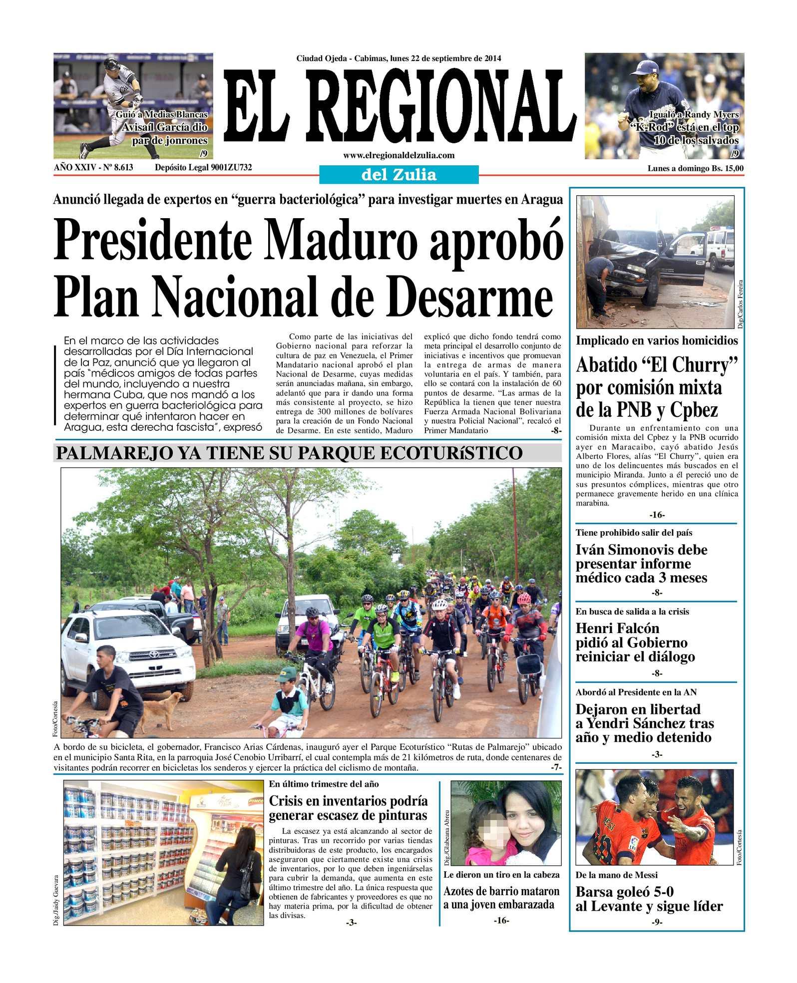 Calaméo - El Regional del Zulia 22-09-2014