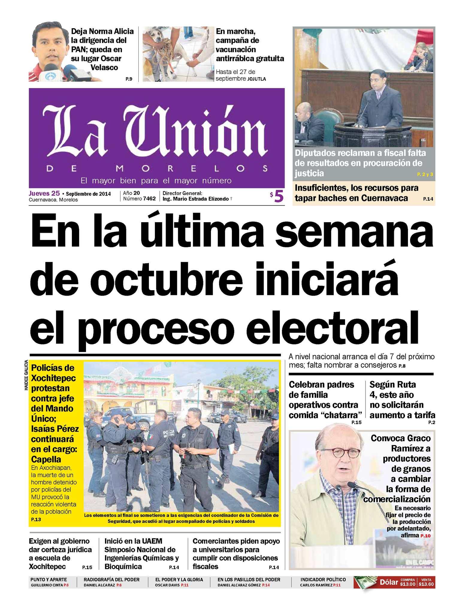 Calaméo - La Unión de morelos 25 Septiembre 2014