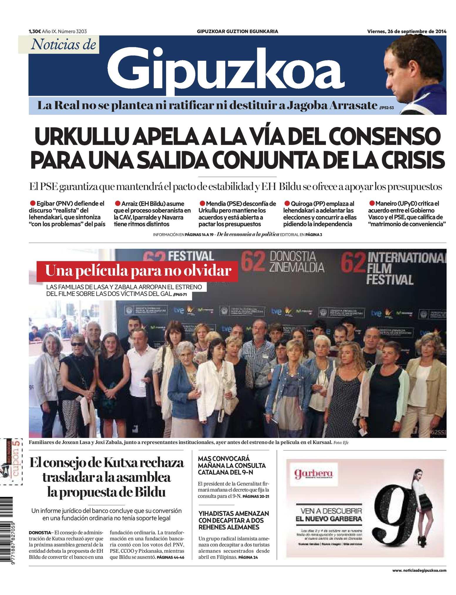 Calaméo - Noticias de Gipuzkoa 20140926