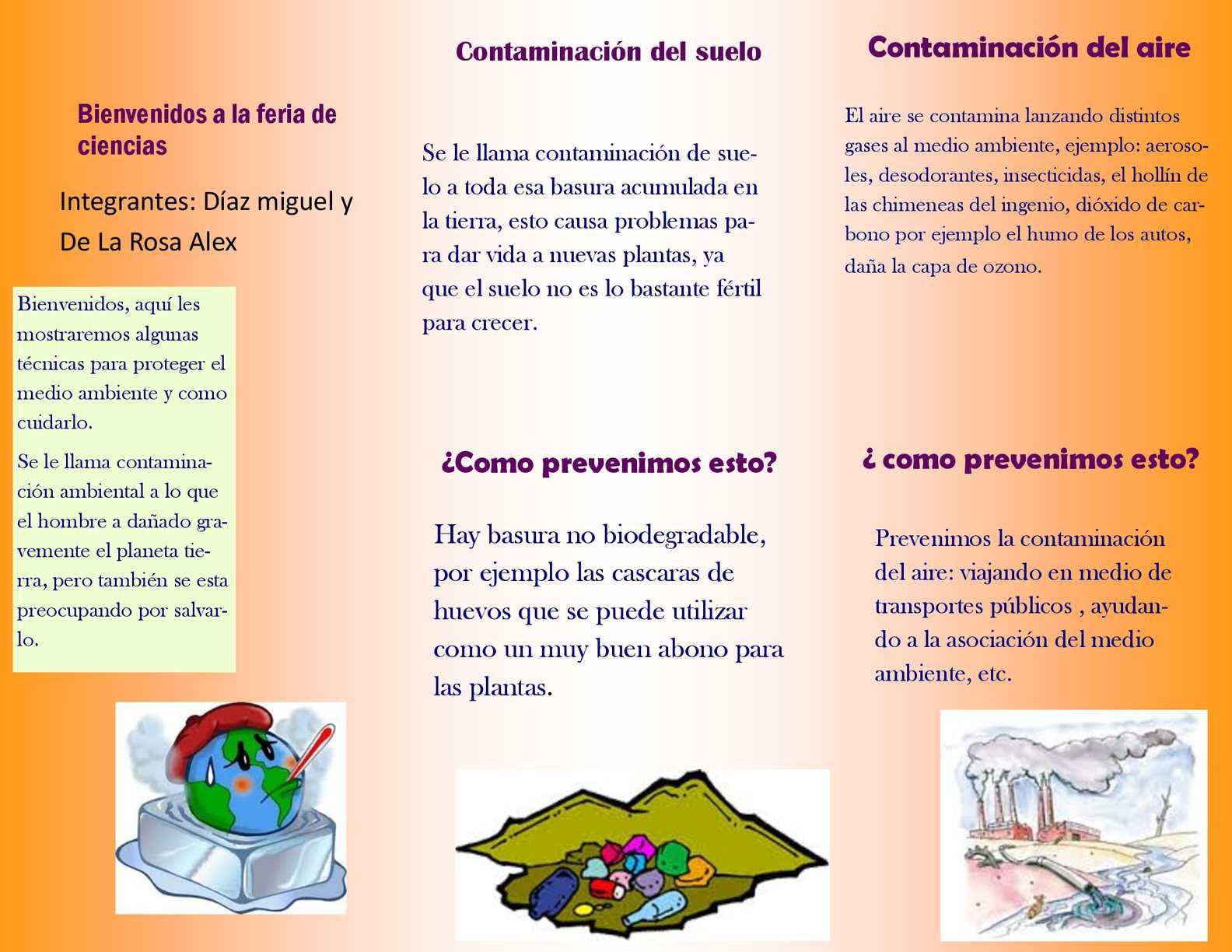 Folleto sobre el medio ambiente calam 233 o folleto del for Affordable furniture gonzales la