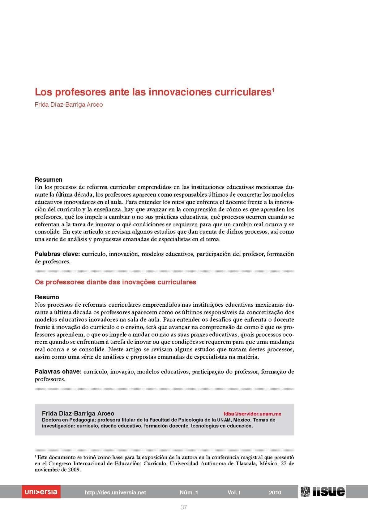 Calaméo - Los Profesores Ante Las Innovaciones Curriculares1