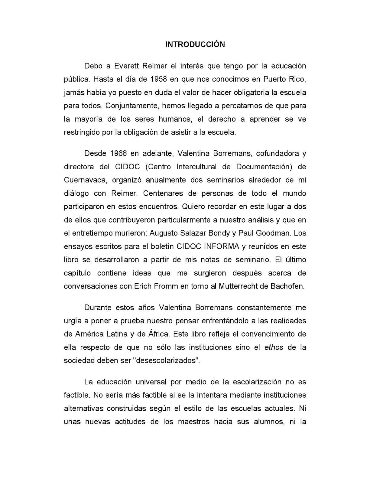 Calaméo - Ivan Illich la desescolarización