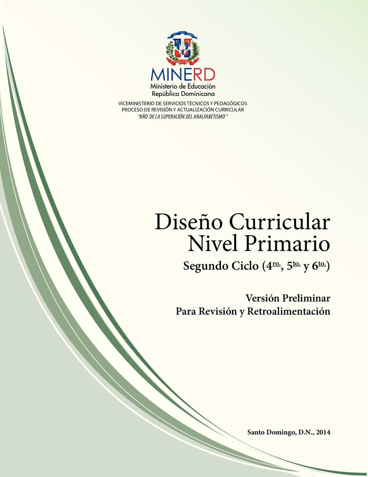 Calam o curriculo nivel primario segundo ciclo for Diseno curricular primaria