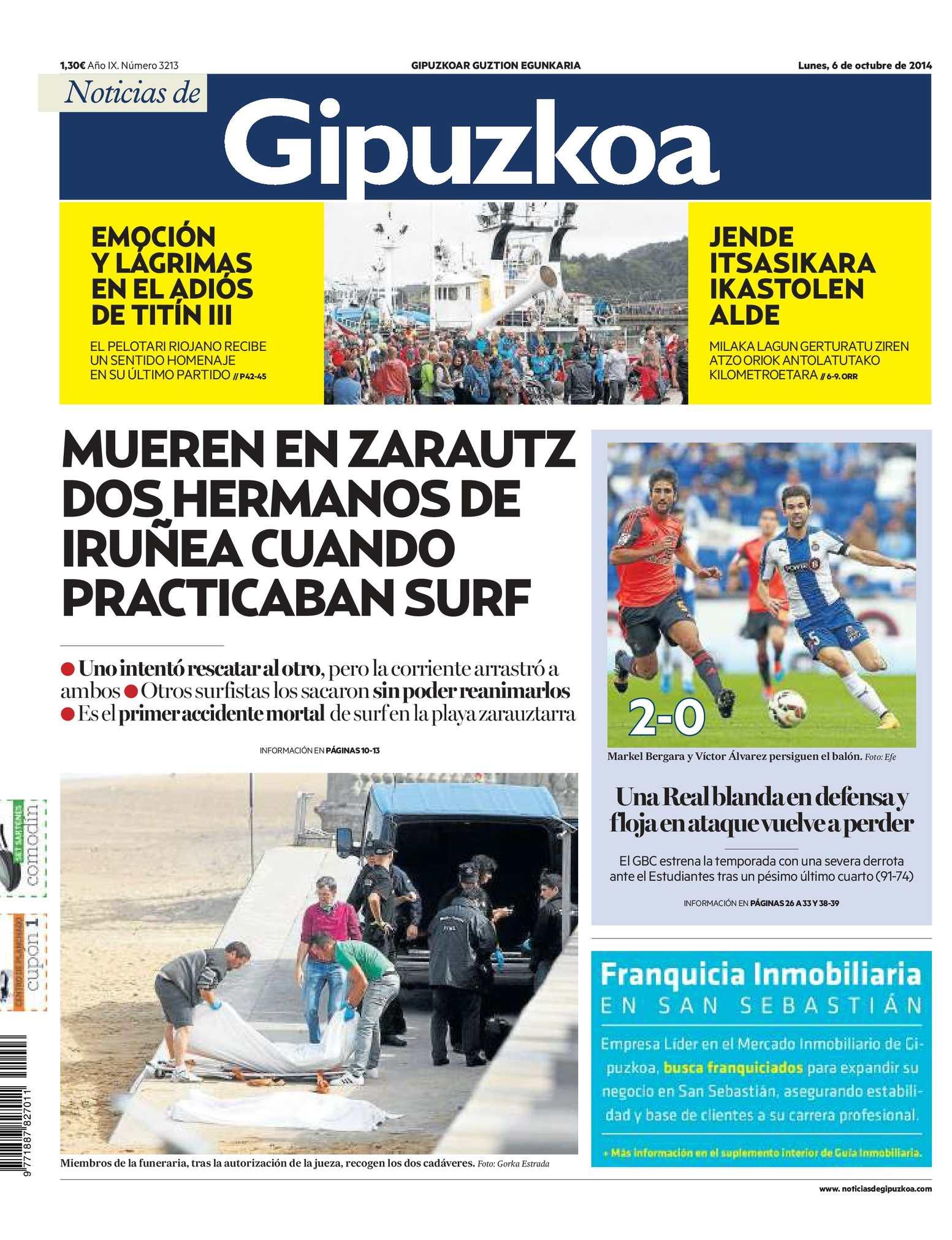 Calaméo - Noticias de Gipuzkoa 20141006