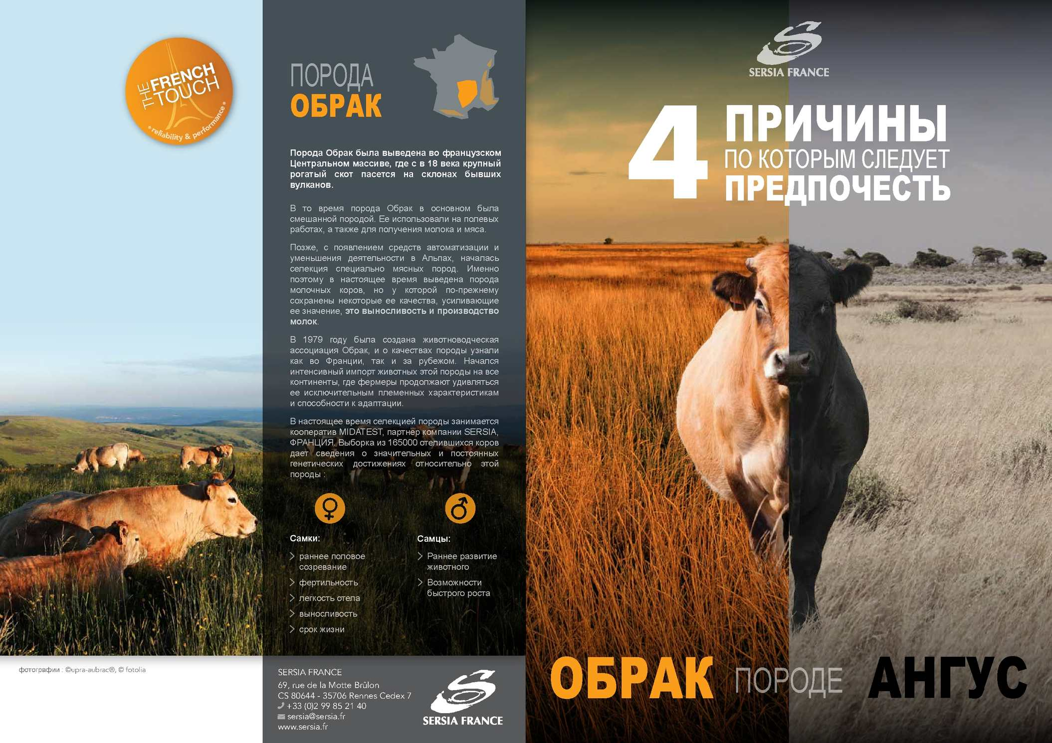 PLAQUETTE AUBRAC EVOLUTION INTERNATIONAL 2014 RUS