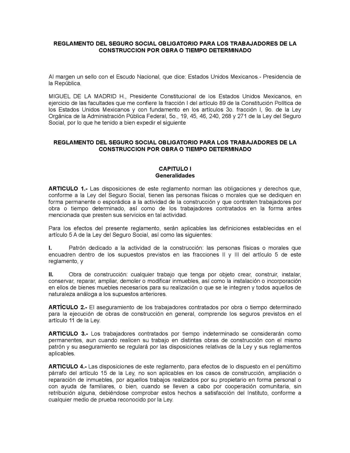 Calaméo - Reglamento Del Seguro Social Obligatorio Para Los ...