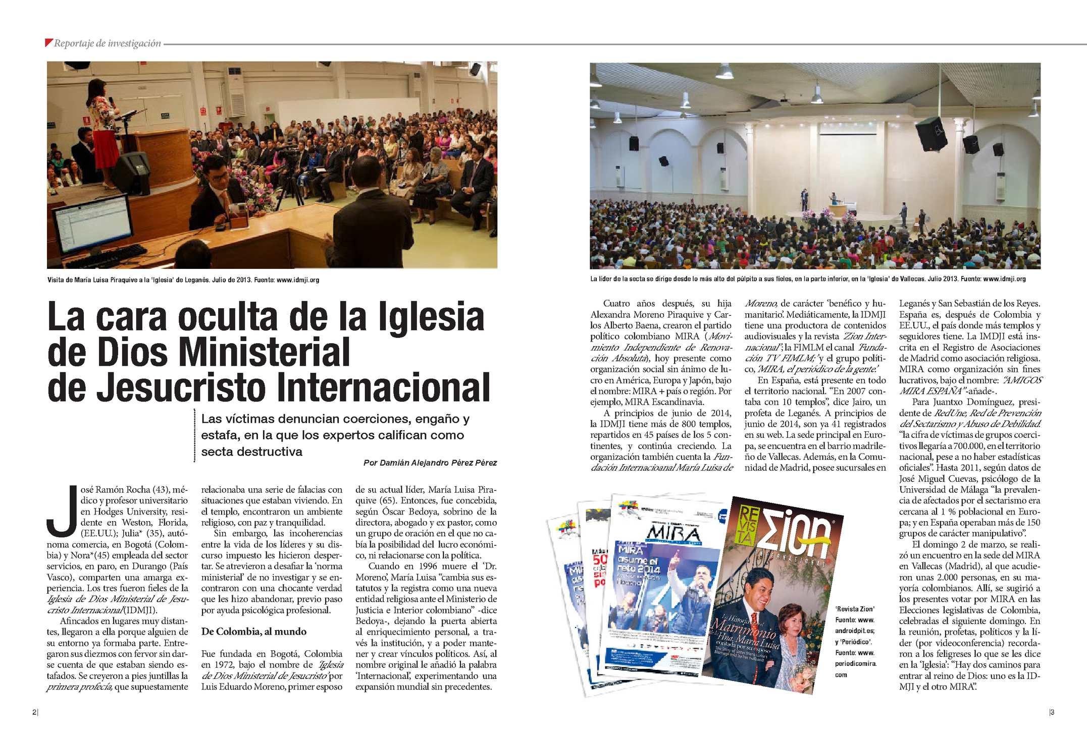 La cara oculta de la Iglesia  de Dios Ministerial  de Jesucristo Internacional
