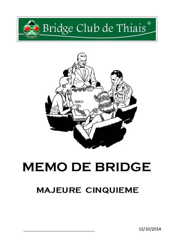 Mémo de bridge-15/10/14
