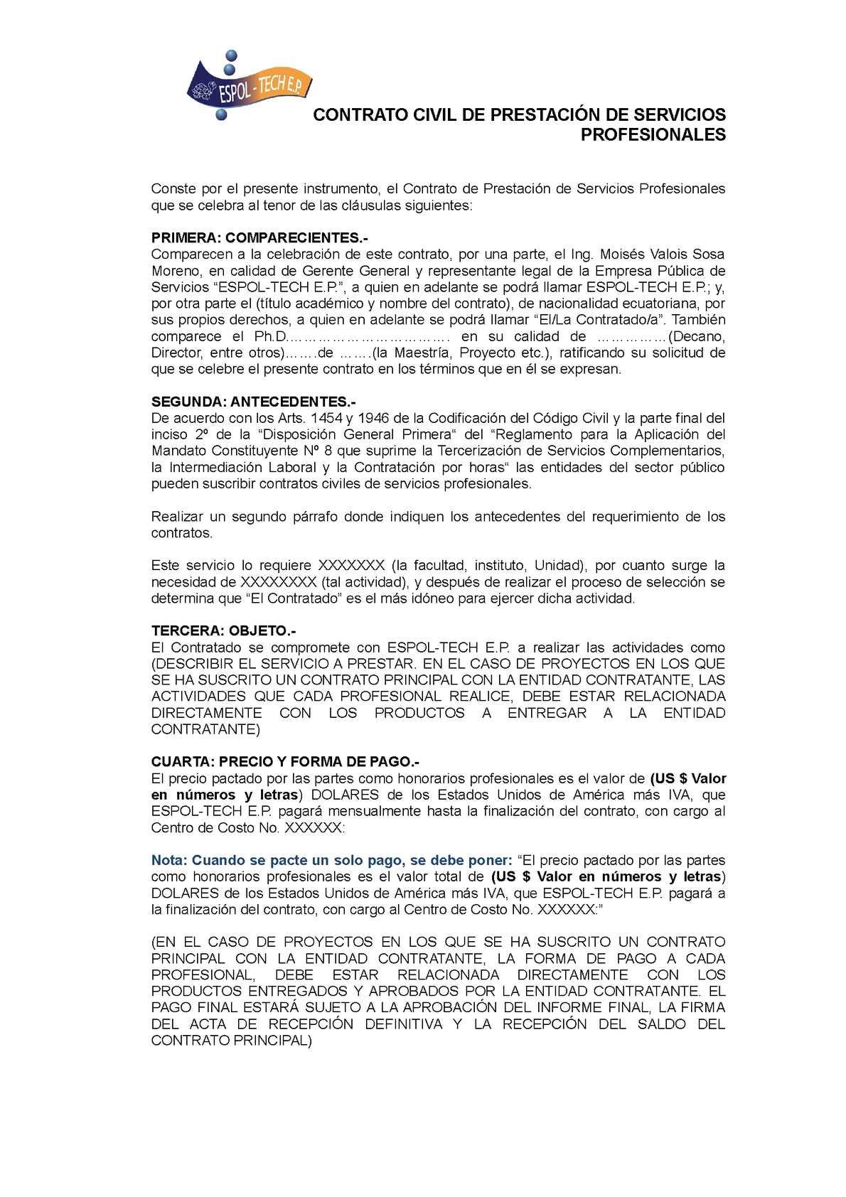 Calaméo - Formato Contrato Civil De Prestación De Servicios ...