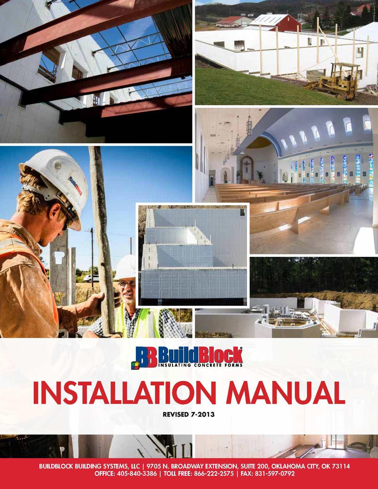Calam o manual build block en ingles for Buildblock pricing