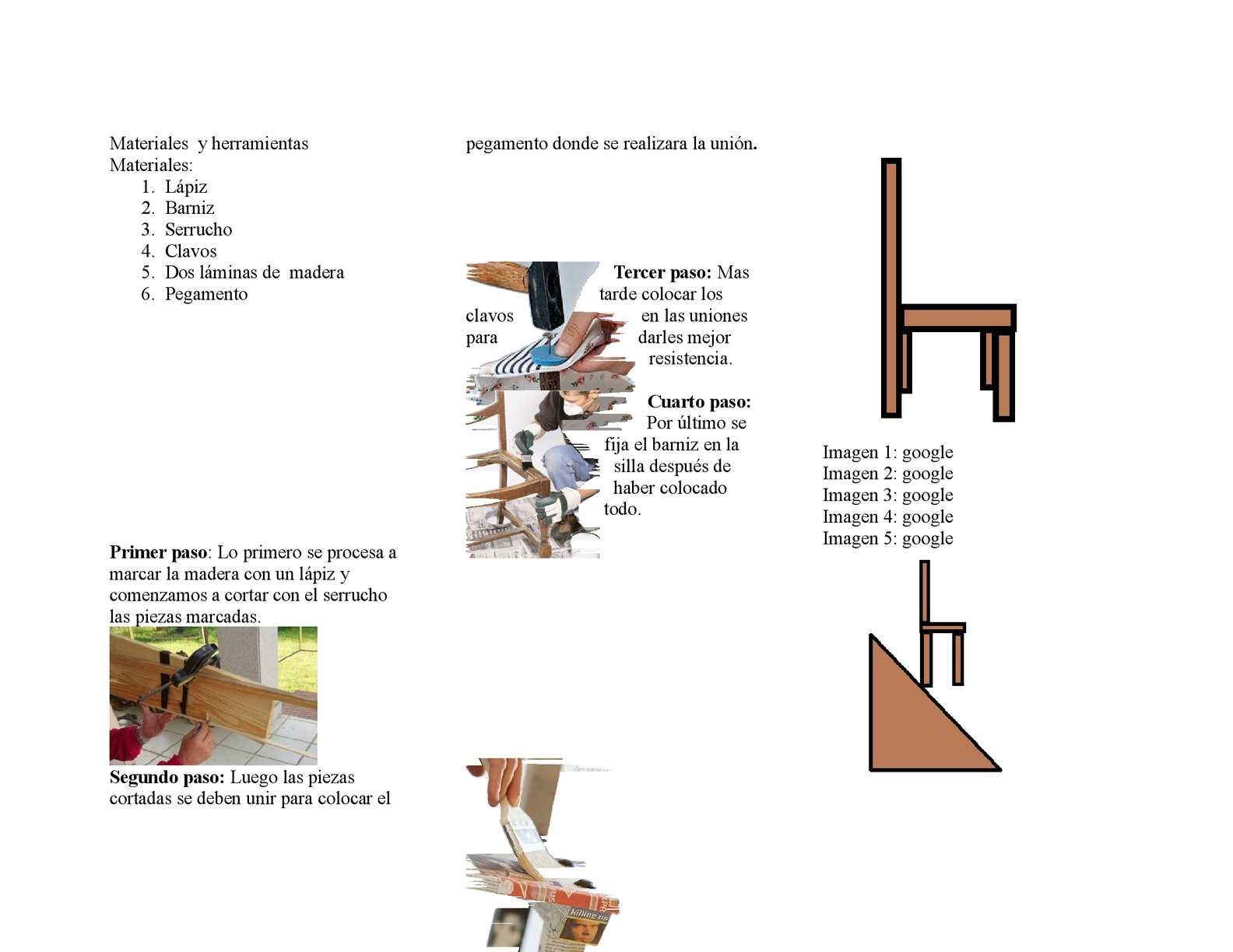 Calam o transformacion de una silla - Como se elabora una silla de madera ...