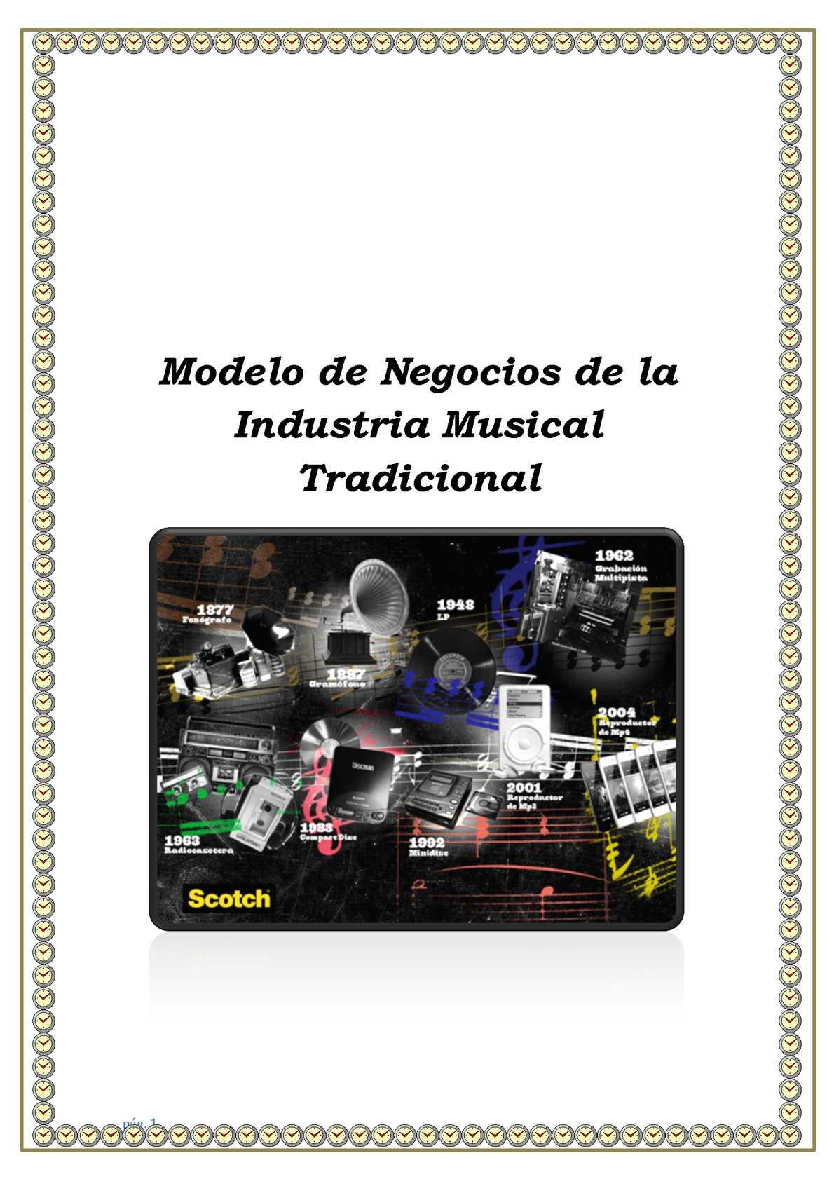 Modelo De Negocios De La Industria Musical Tradicional