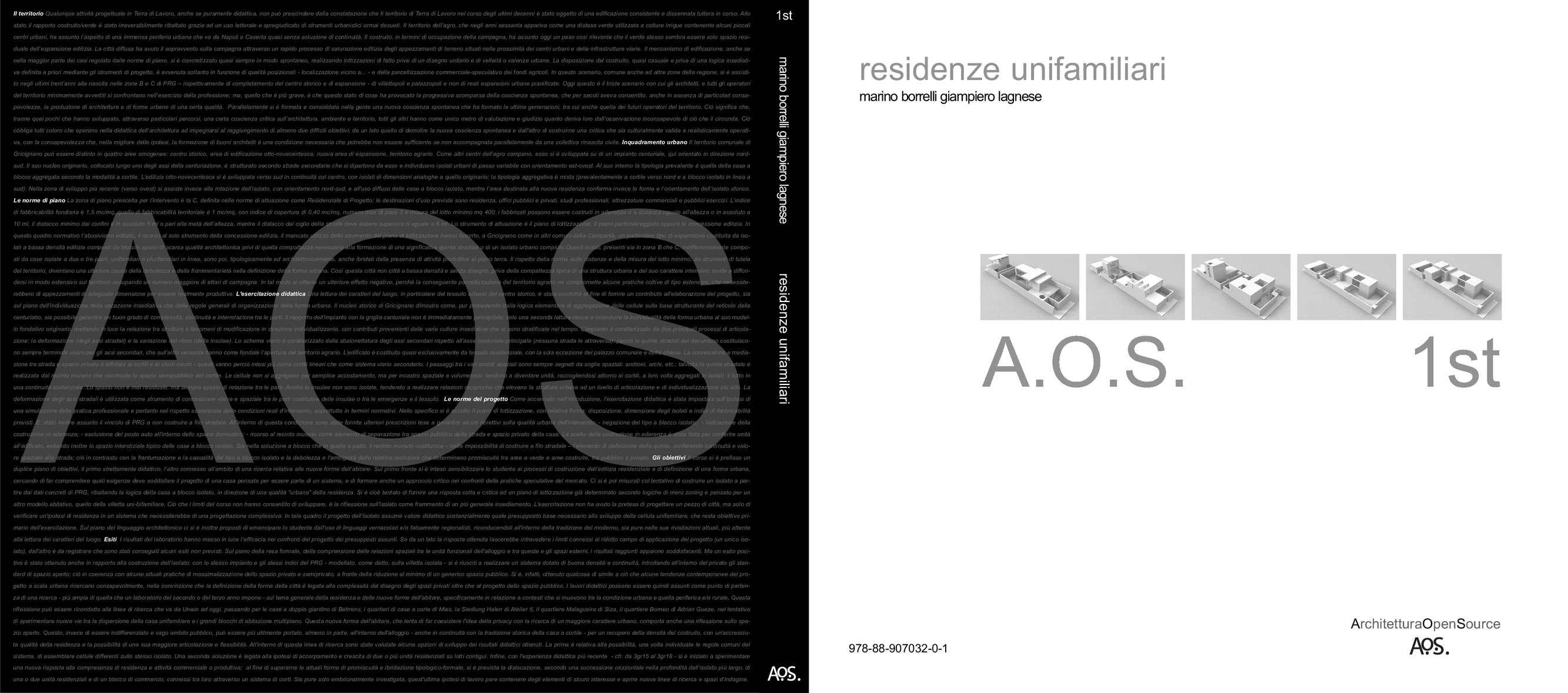 Residenze Unifamiliari di Marino Borrelli e Giampiero Lagnese, Aos edizioni Napoli 2012