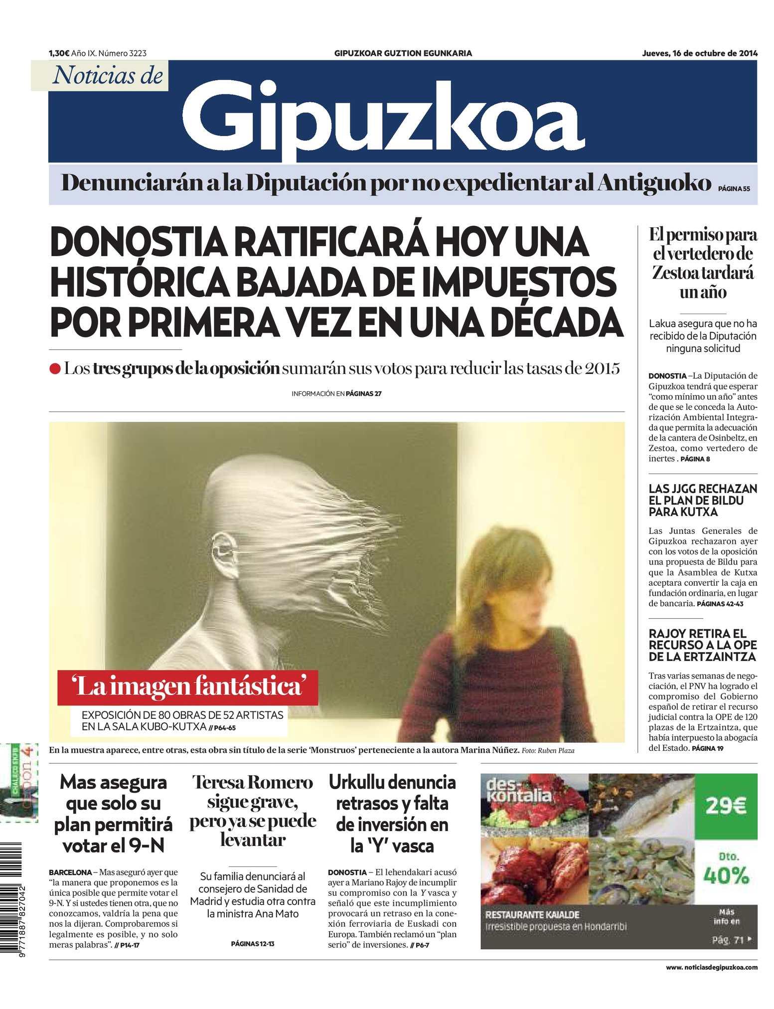Calaméo - Noticias de Gipuzkoa 20141016