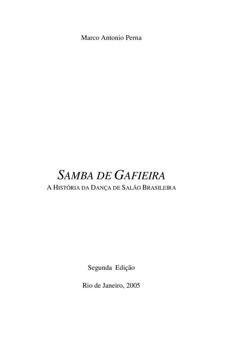 Samba de Gafieira a história da dança de salão brasileira