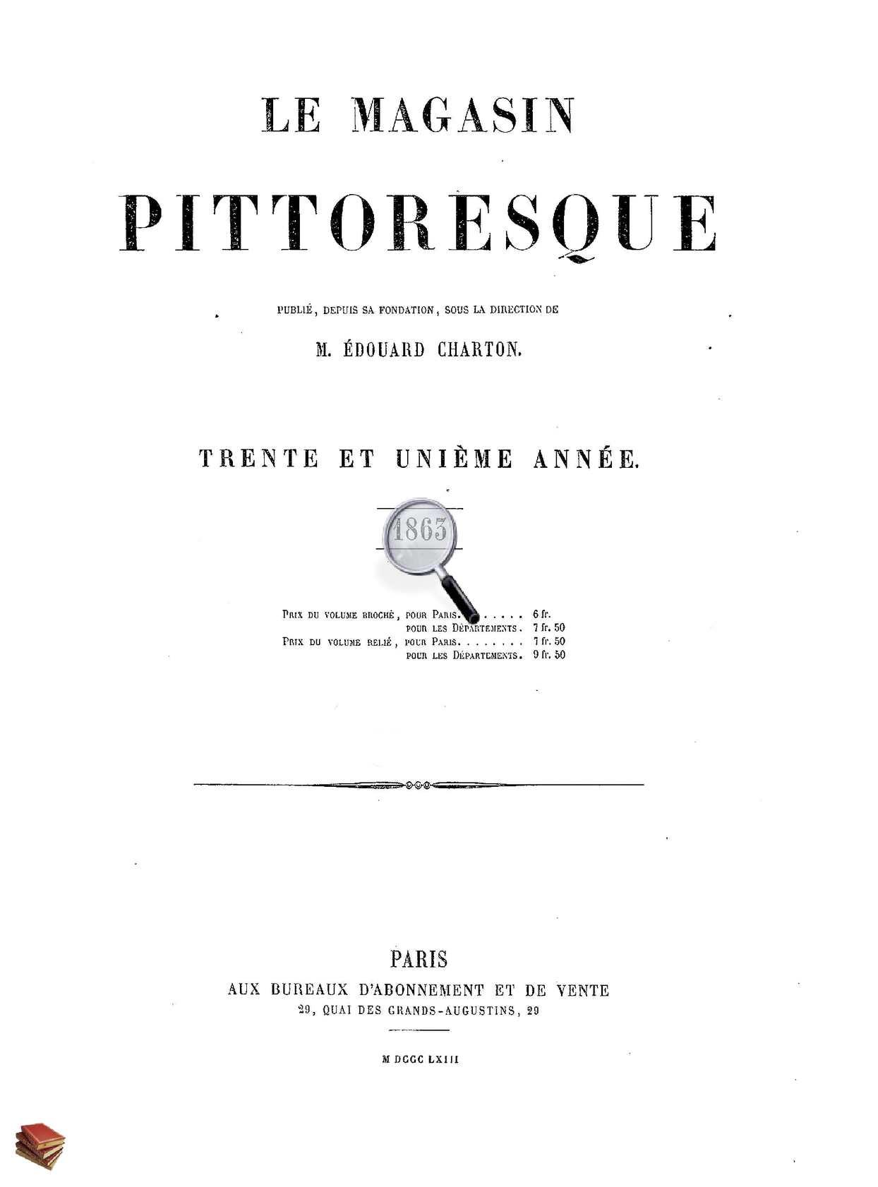 Calaméo Le Magasin Pittoresque 1863