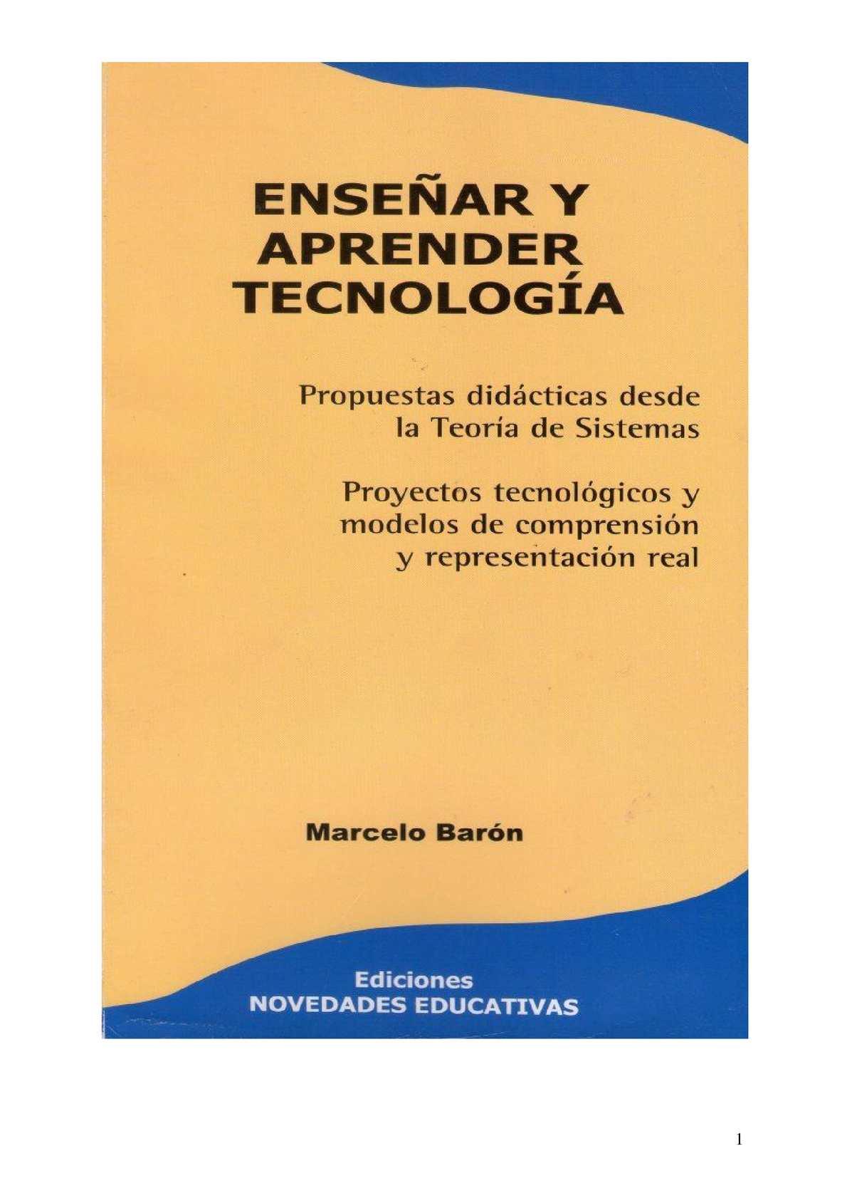 Calaméo - Enseñar Y Aprender Tecnología M Barón Nov Educ 1ra Parte ...