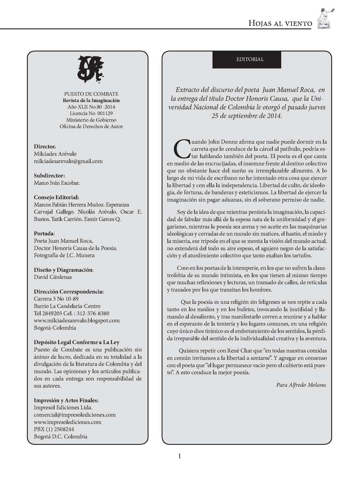 Calaméo - Puesto De Combate No. 80. Revista. Octubre 2014