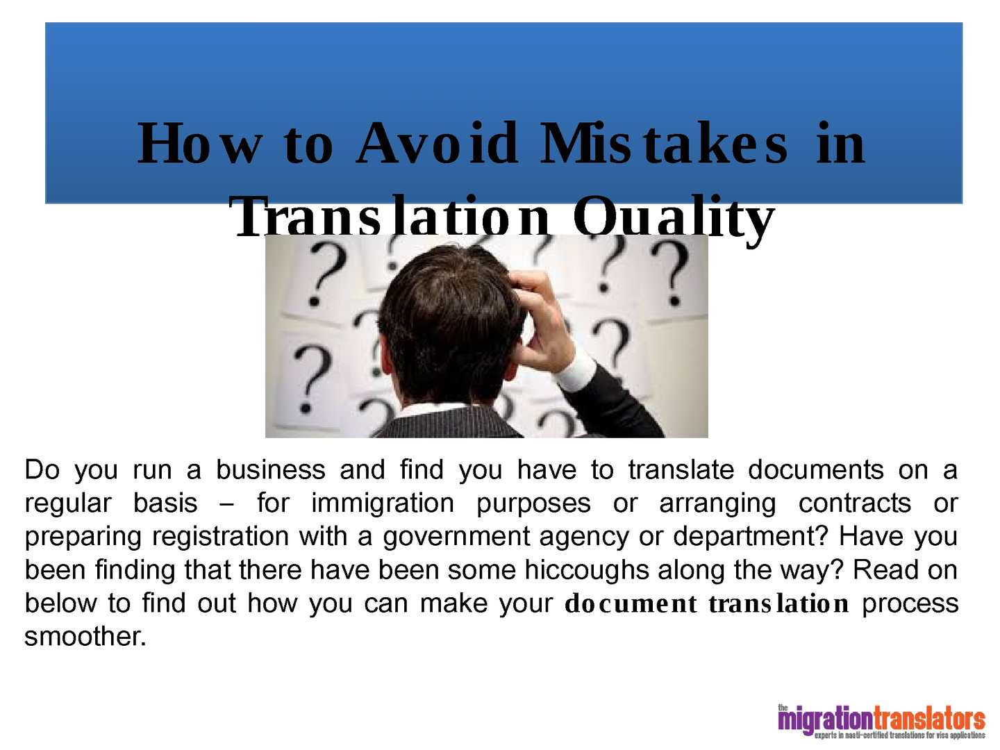 How To Avoid Mistakes In Translation Quality