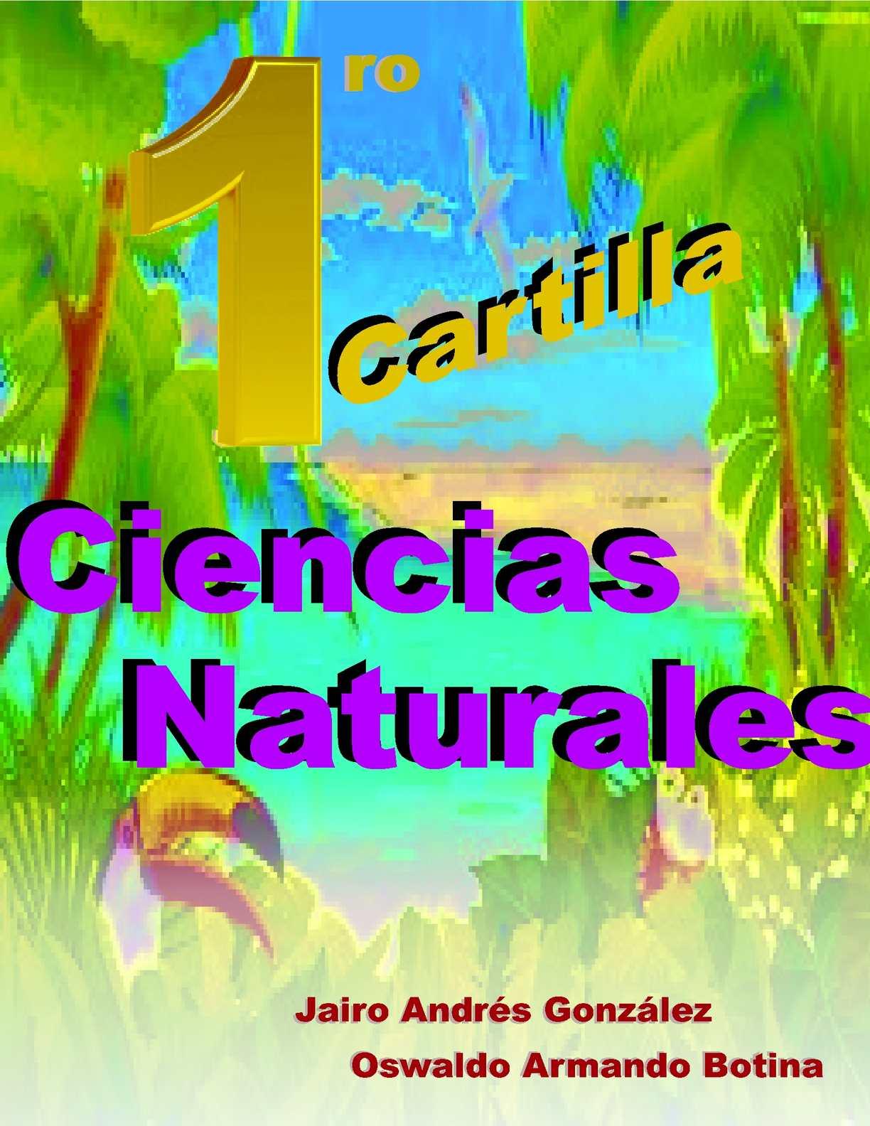 CARTILLA CIENCIAS NATURALES