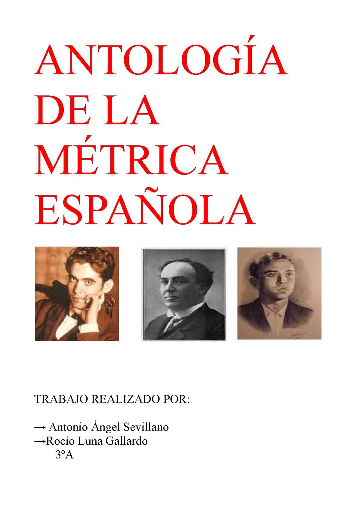 Antología De La Métrica Española Rocío Luna 3ºa