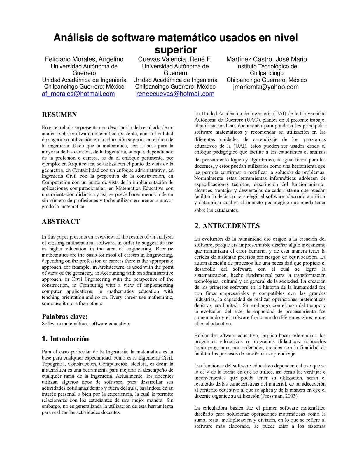 Calaméo - Análisis de software matemático usados en nivel superior