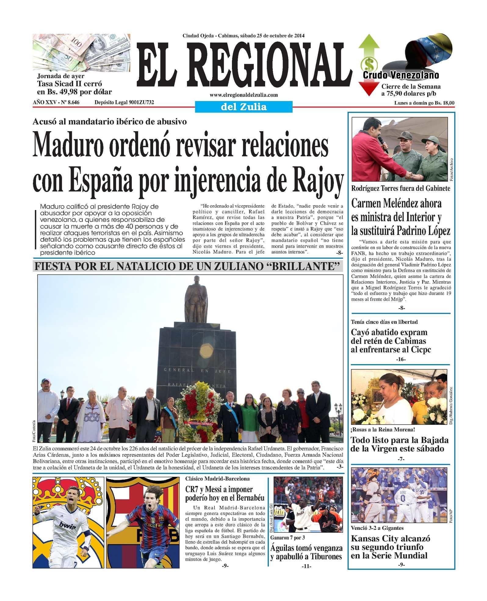 Calaméo - El Regional del Zulia 25-10-2014