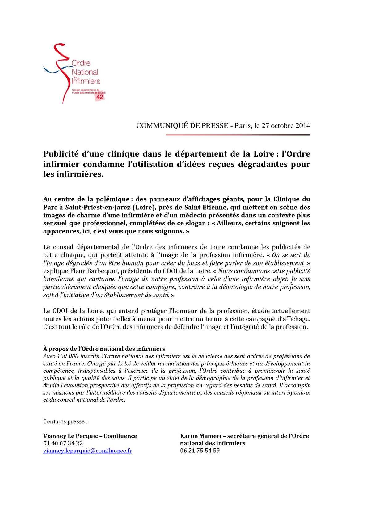 Calameo L Ordre Infirmier Condamne L Utilisation D Idees Recues