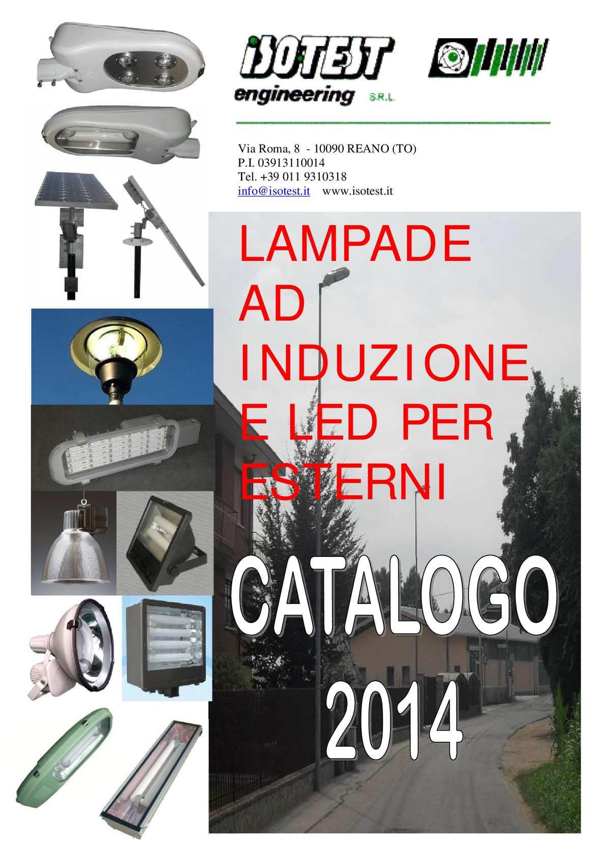 Calam o catalogo illuminazione a induzione e led per esterni for Illuminazione per esterni led