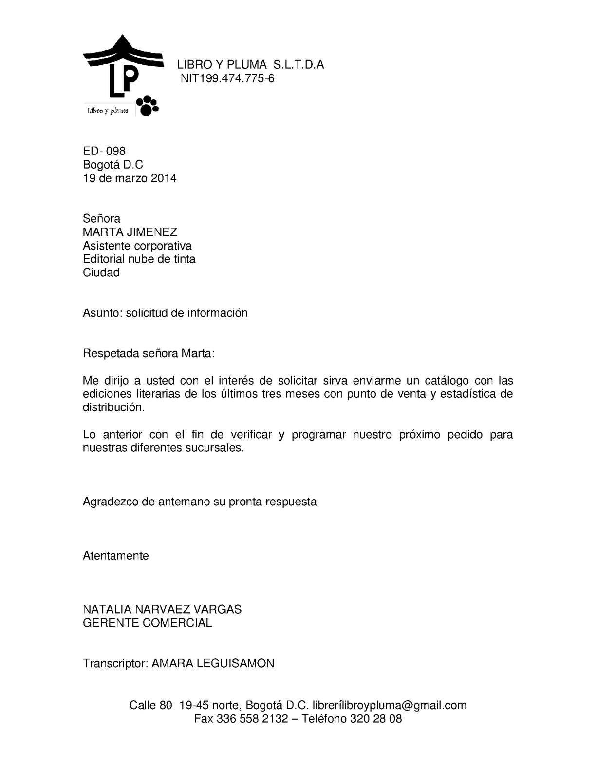 Calam o cartas pedidos for Oficina de empleo telefono informacion