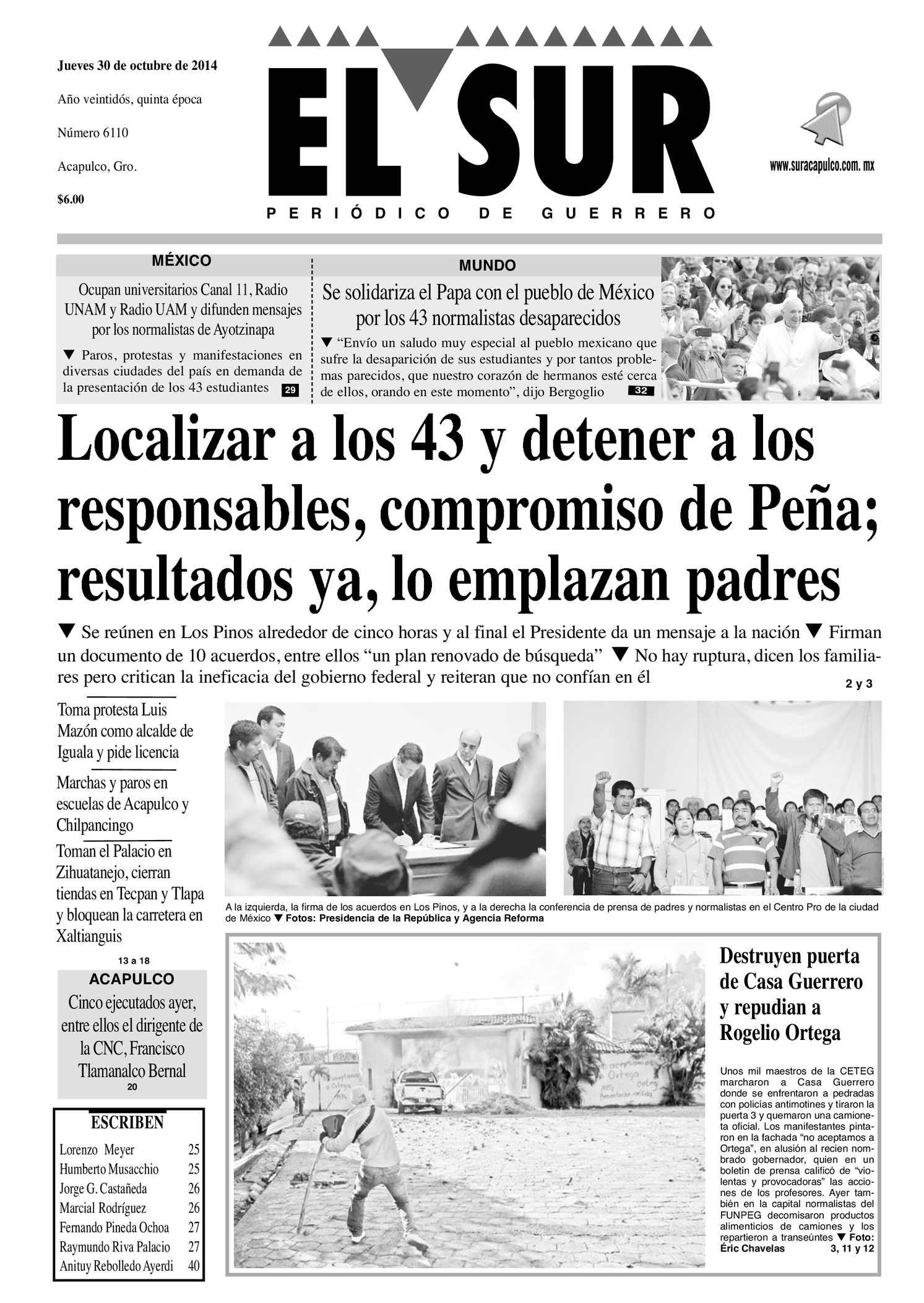 Calaméo - El Sur Jueves 30102014