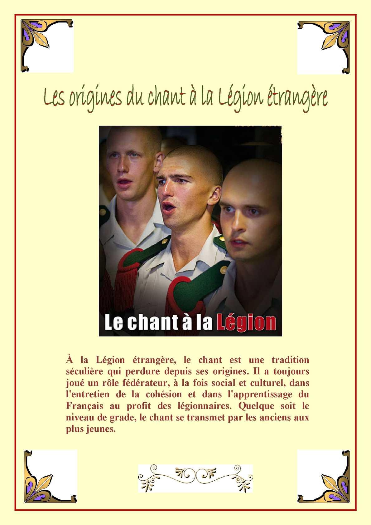 Les Origines Du Chant à La Légion éTrangère V 03