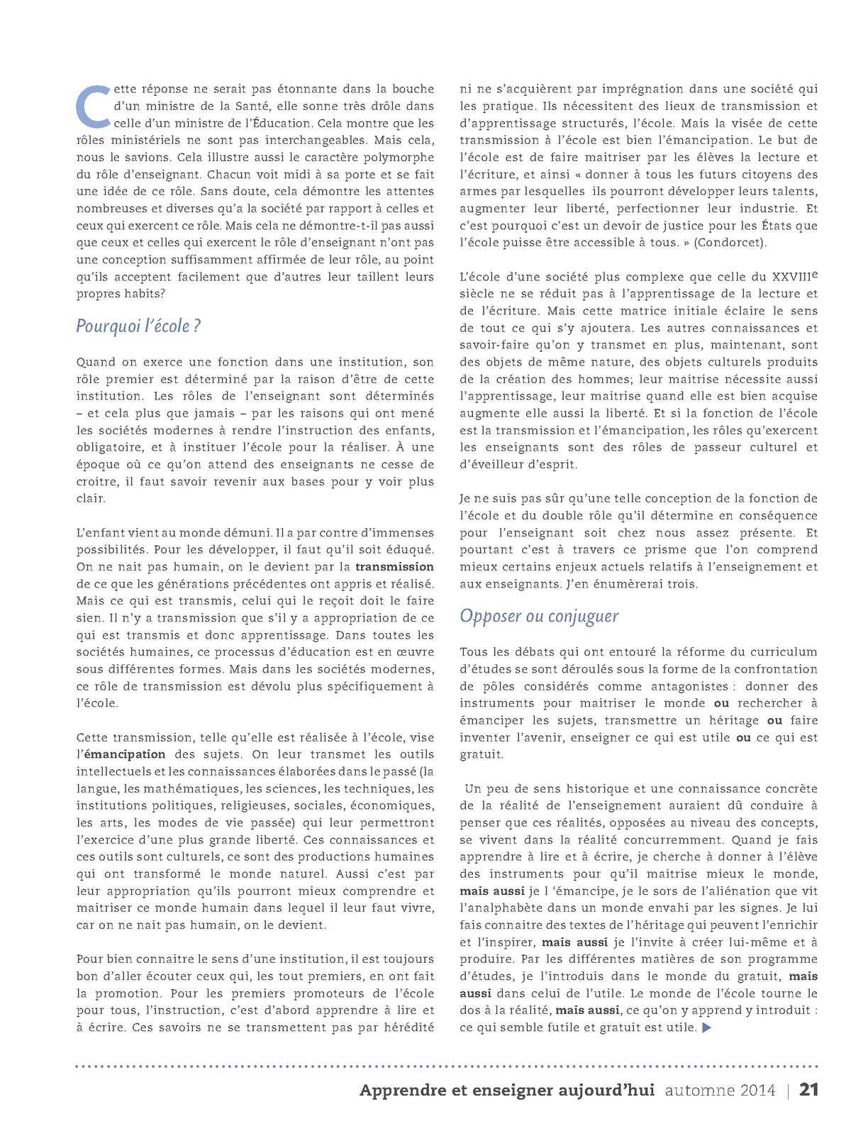 Apprendre Et Enseigner Aujourd Hui Vol 4 No 1 Calameo Downloader