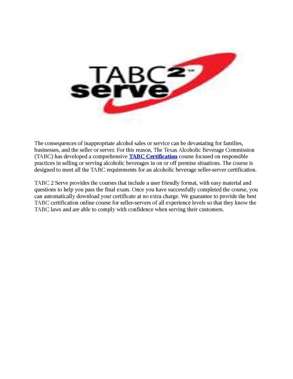 Calamo Tabc Certification Courses