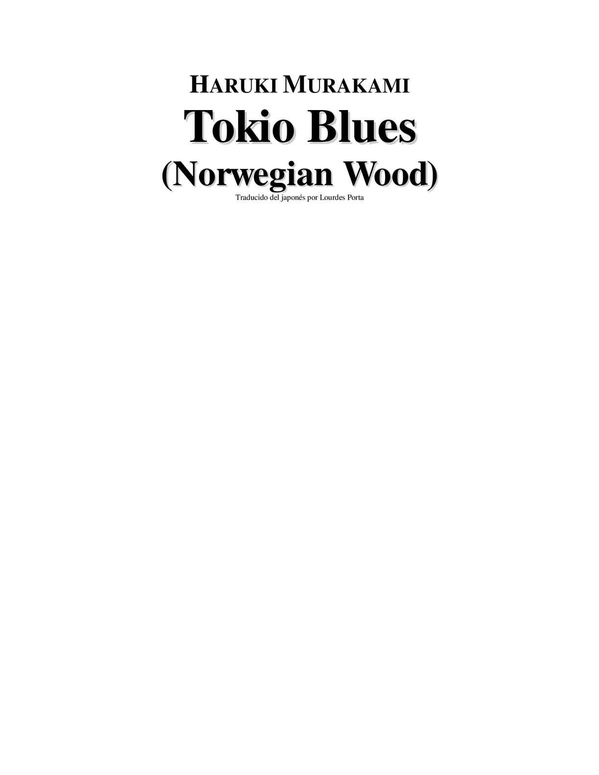 Calaméo - Haruki Murakami Tokio Blues
