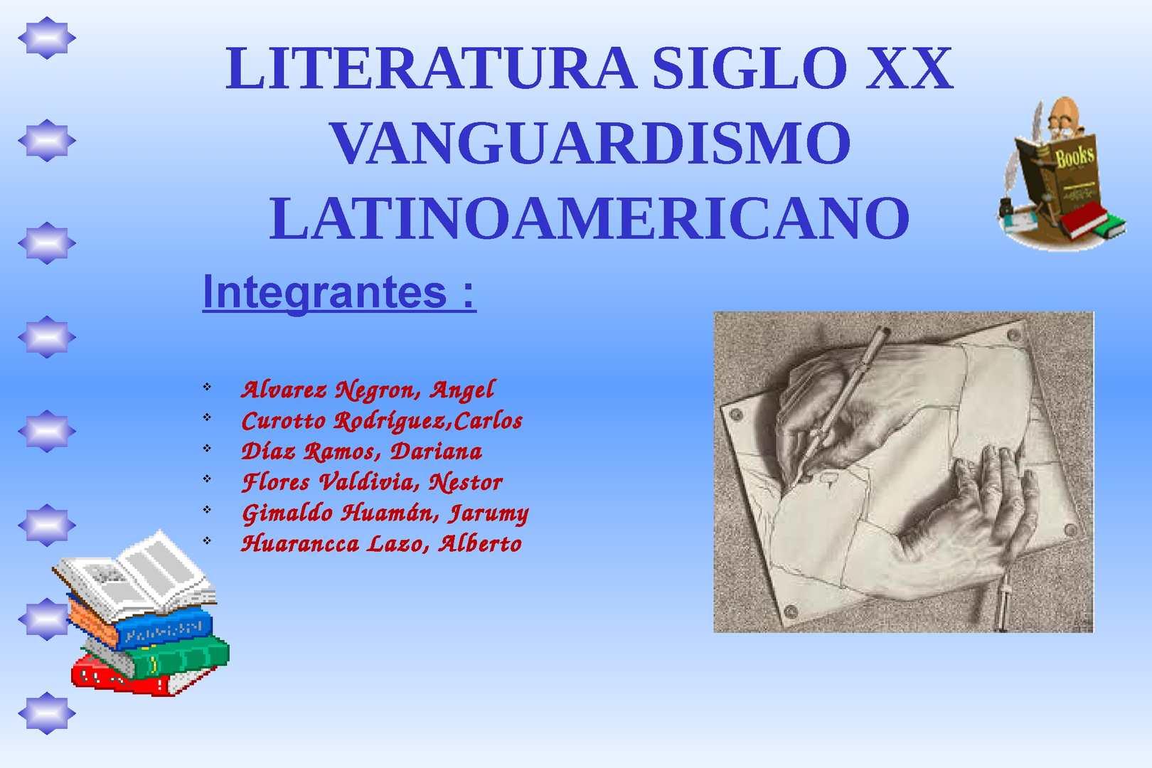 Calam o literatura del siglo xx vanguardismo for Caracteristicas del vanguardismo