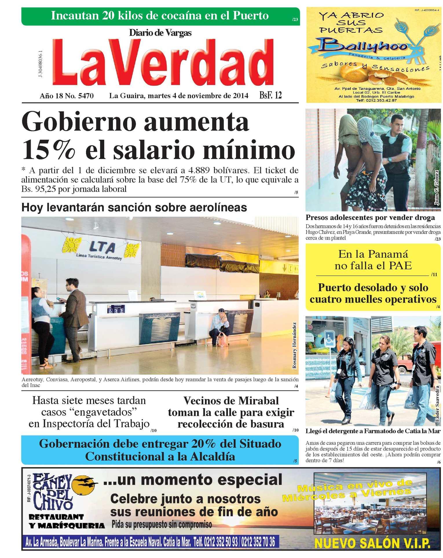 Calaméo - La Guaira, Martes 04 De Noviembre De 2014 Año 18 No 5470